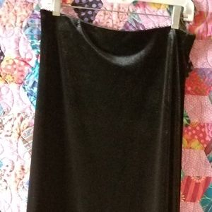 Max Studio Long Velvet Skirt